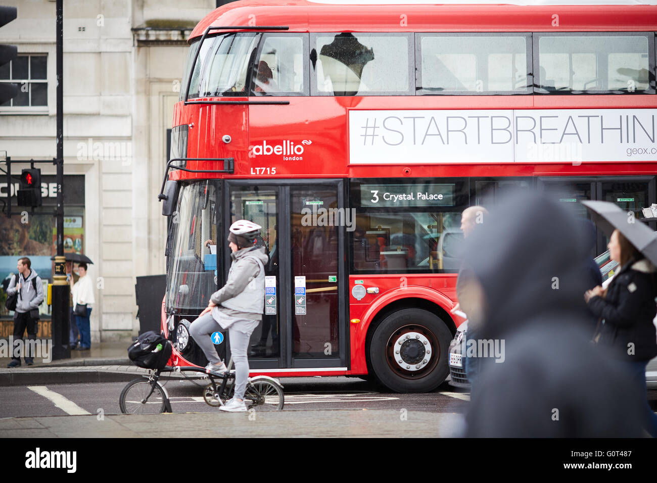 London bus   The New Routemaster, originally referred to as the New Bus for London and colloquially as the Borisbus - Stock Image