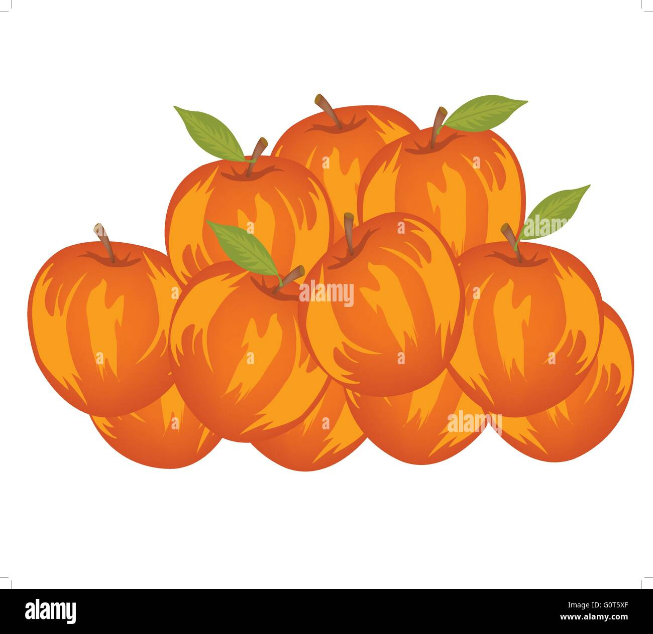 Small circle red apple - Stock Vector