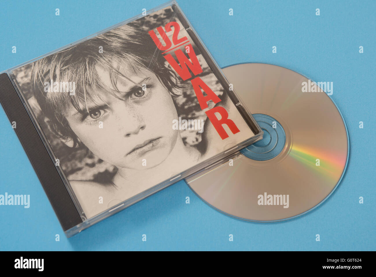 U2, War album on compact disc - Stock Image