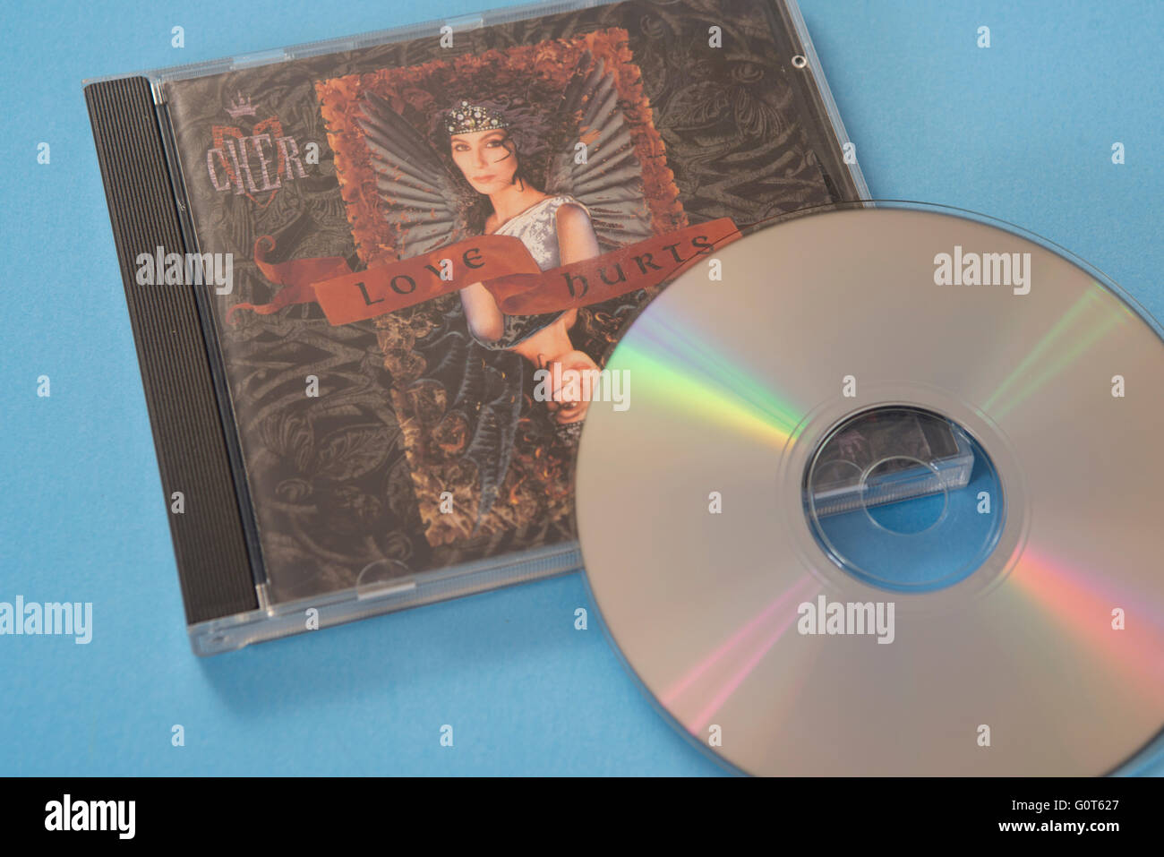 Love Hurts album by Cher on compact disc - Stock Image