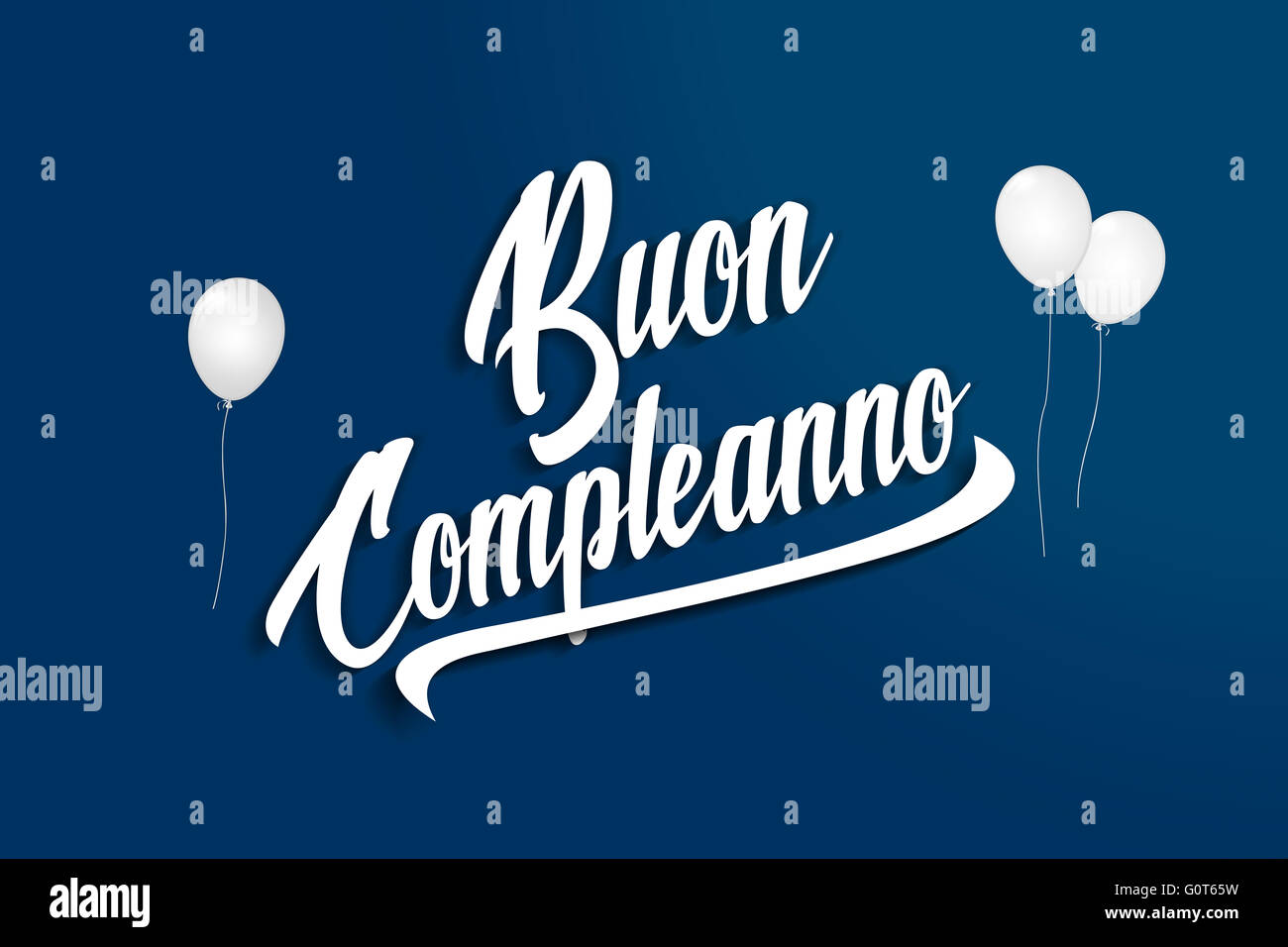 Italian Happy Birthday Card In Stock Photos