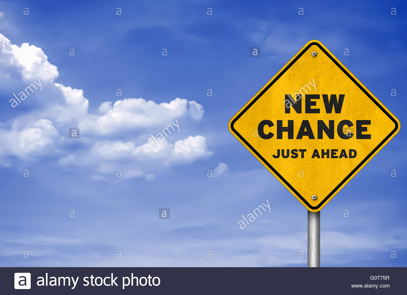 New change - road sign concept - Stock Image