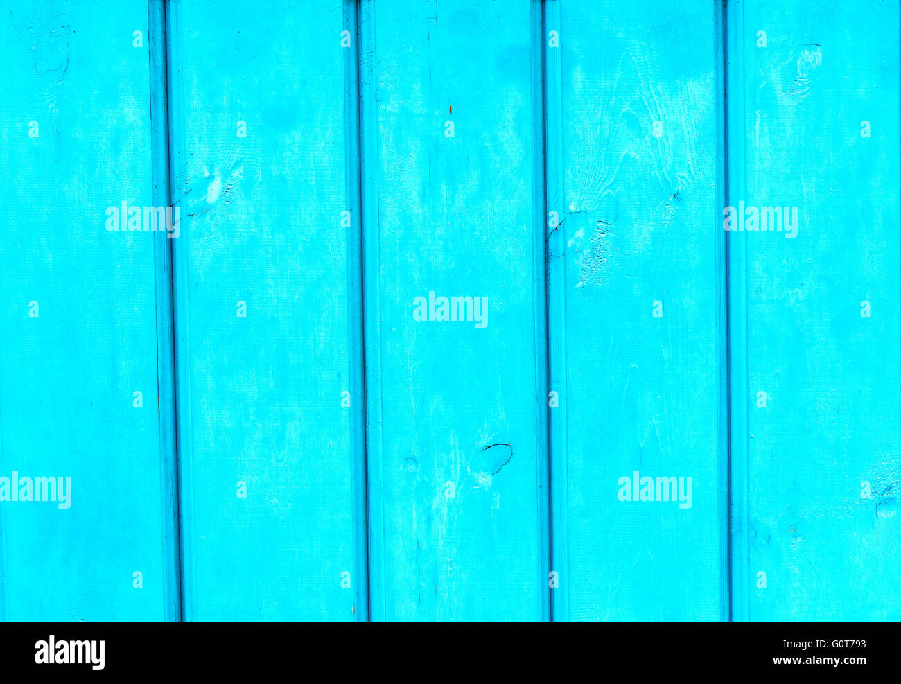 Country blue wooden table background texture - Stock Image
