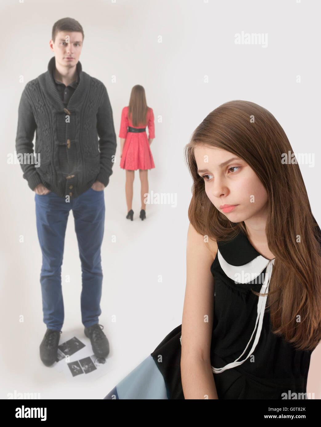 Upset young girl - Stock Image