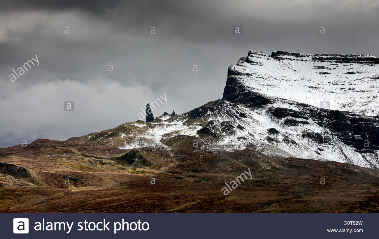 View of the Storr on the Isle of Skye - Stock Image