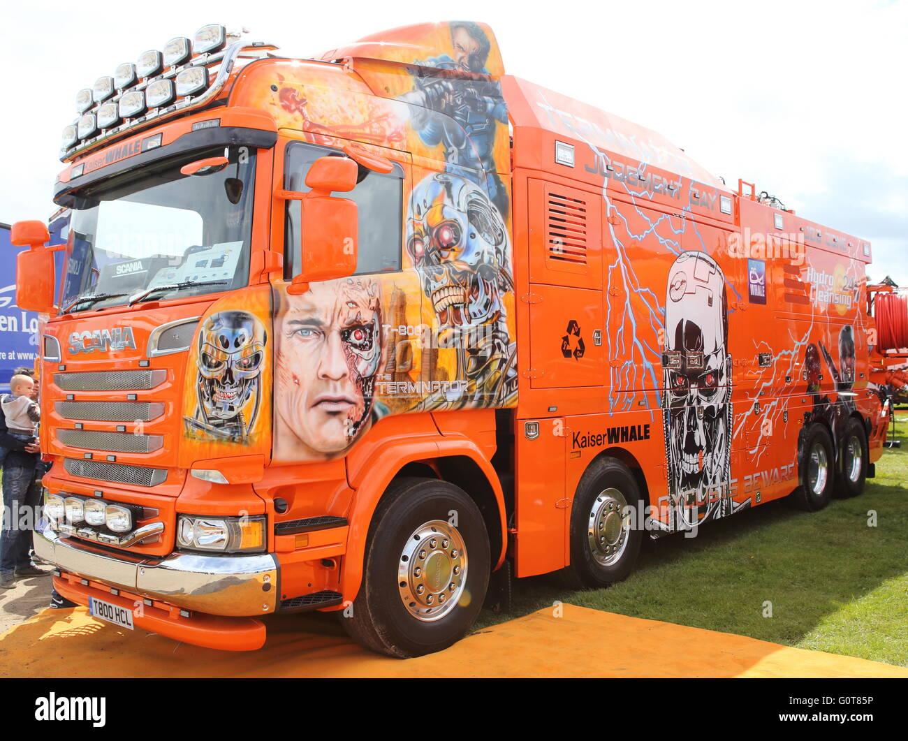 Scania T-100 HGV Truck - Stock Image