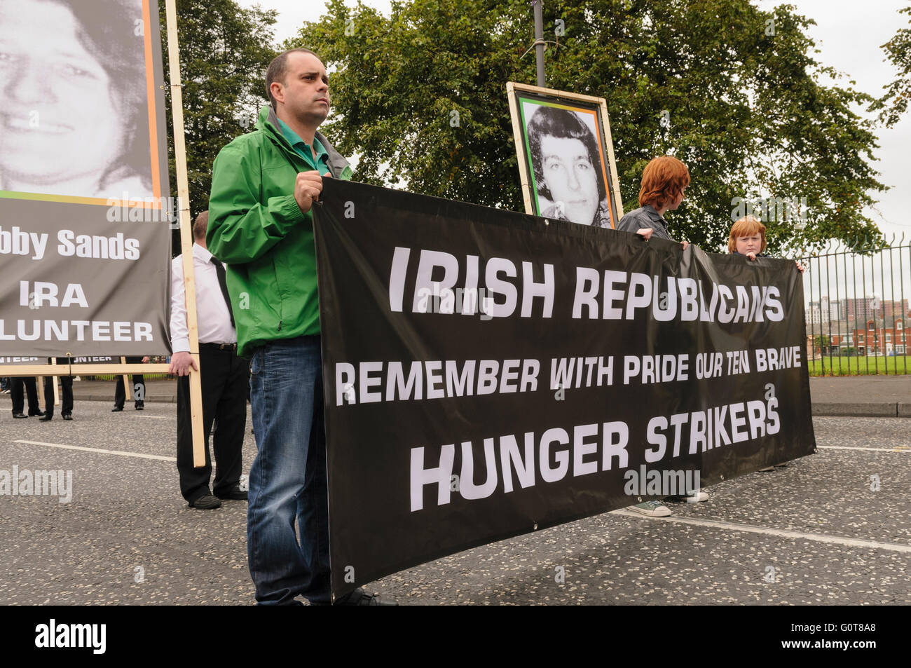 Dissident Republicans commemorate the 1981 Hunger Strikes - Stock Image