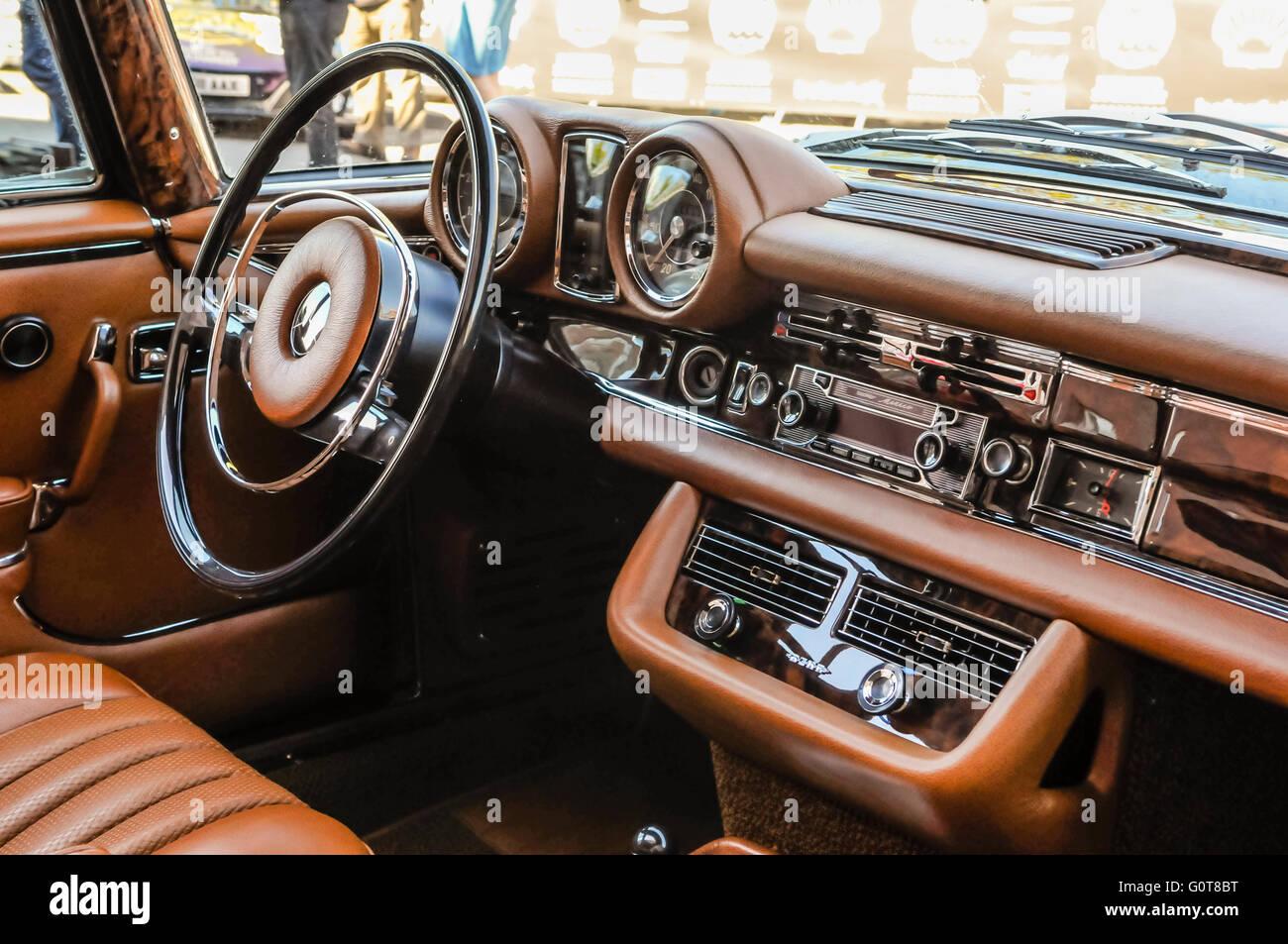 Interior Of A Restored 1970 Mercedes Benz 280 SL Coupe