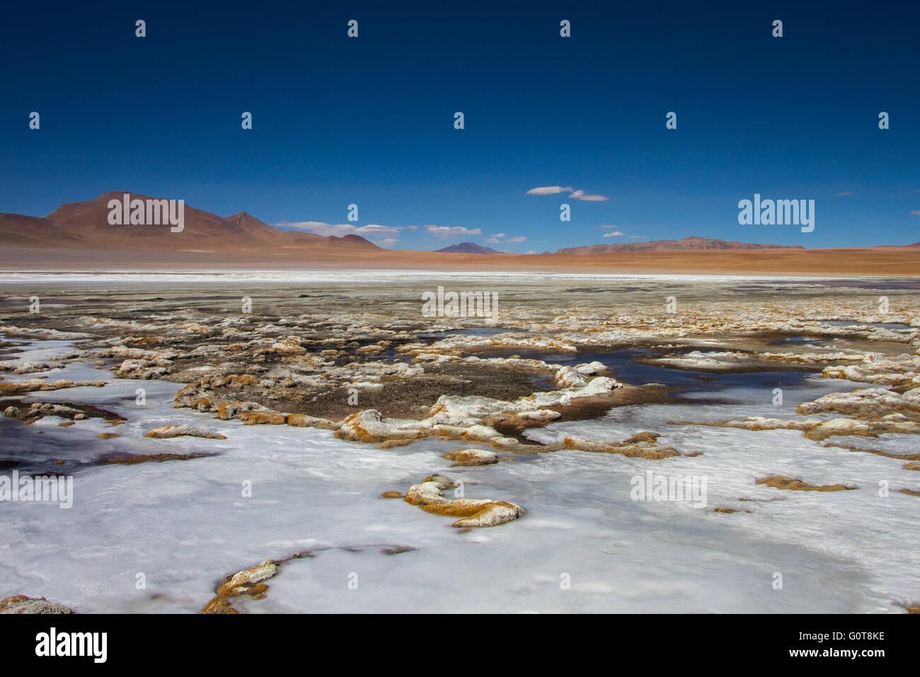 Landscape of desert of Bolivia - Stock Image