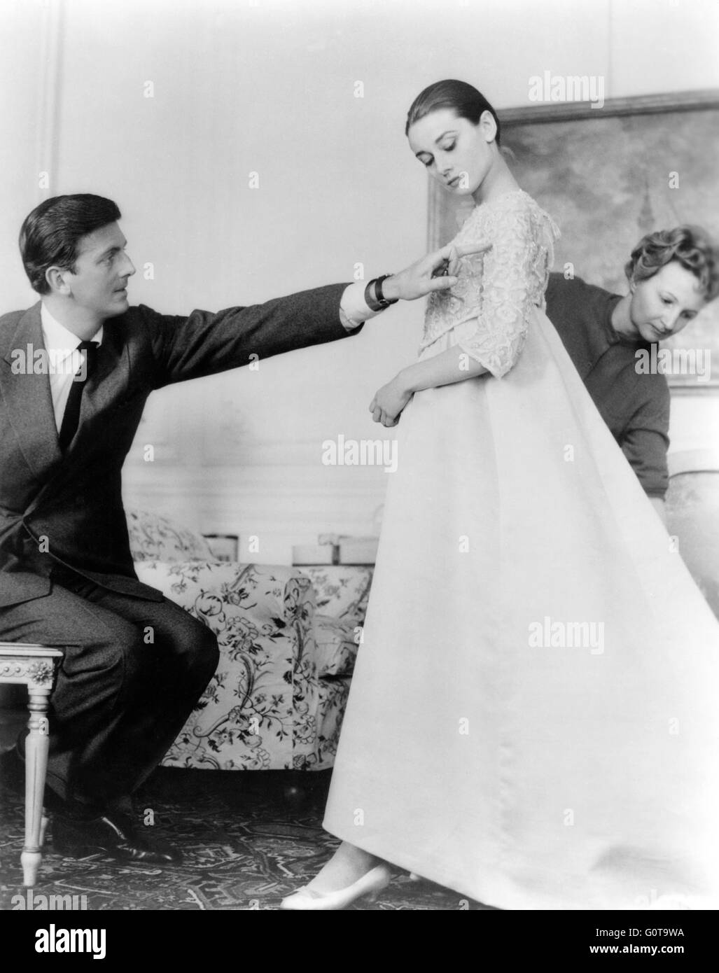 Hubert de Givenchy in the 50's, costume designer, with ...