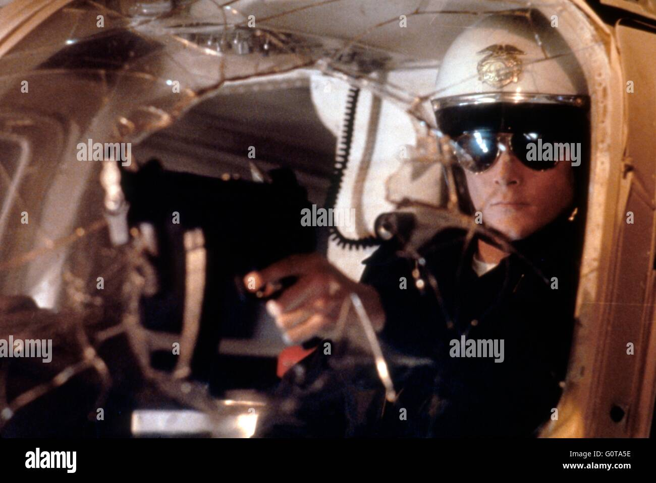 Robert Patrick / Terminator 2 : Judgment Day / 1991 directed by James Cameron (Carolco Pïctures) - Stock Image