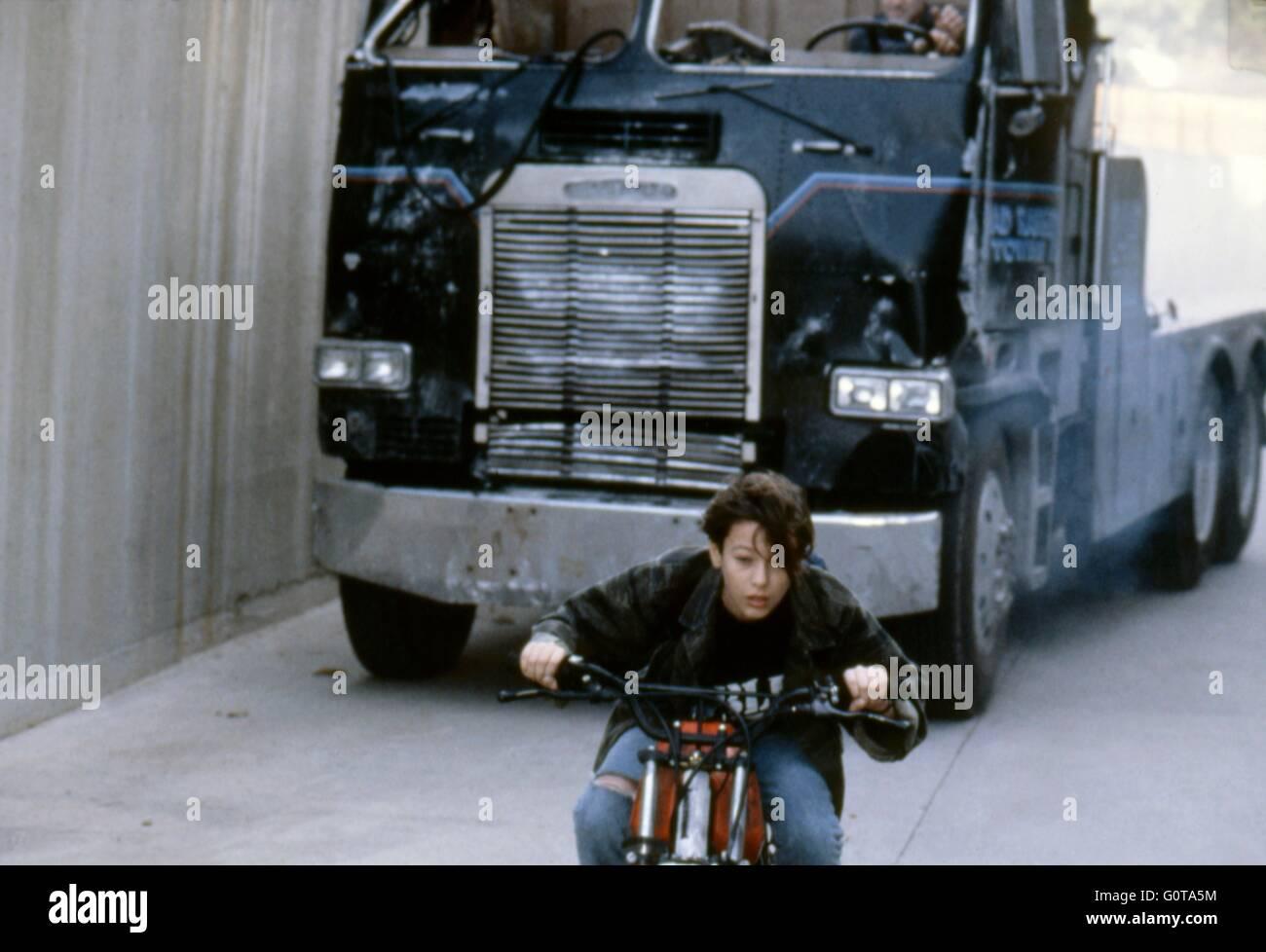 Edward Furlong / Terminator 2 : Judgment Day / 1991 directed by James Cameron (Carolco Pïctures) - Stock Image