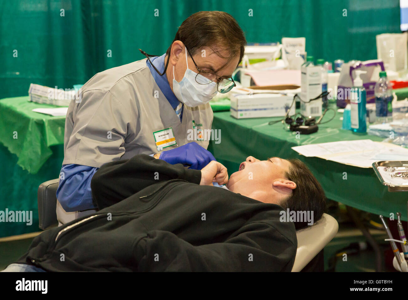 Jacksonville, Florida - A free two-day dental clinic organized by