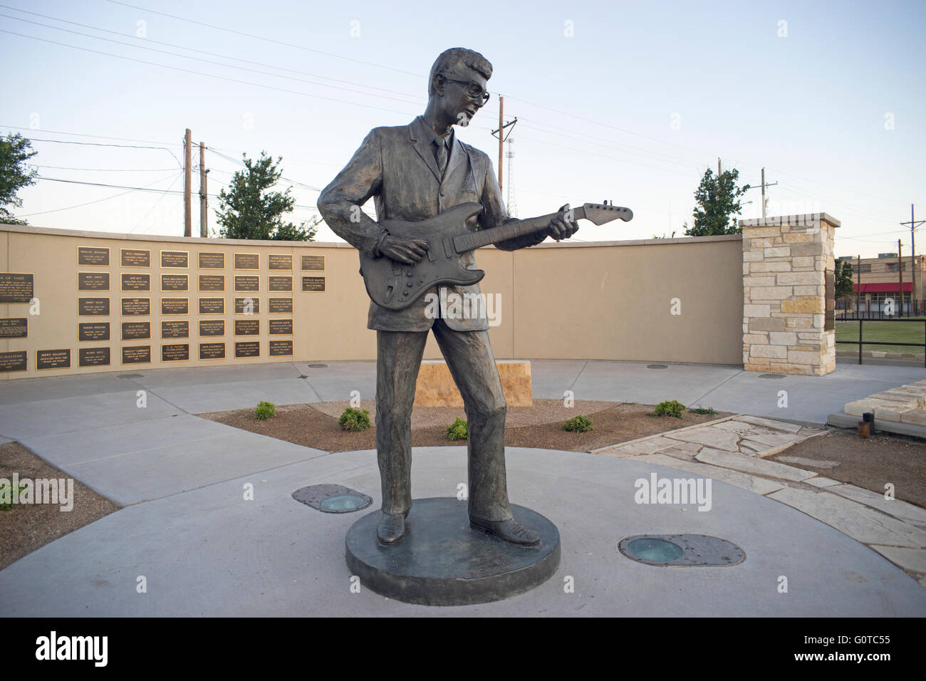 Statue of Buddy Holly in Lubbock, Texas. Charles Hardin Holley (September 7, 1936 – February 3, 1959), known as - Stock Image