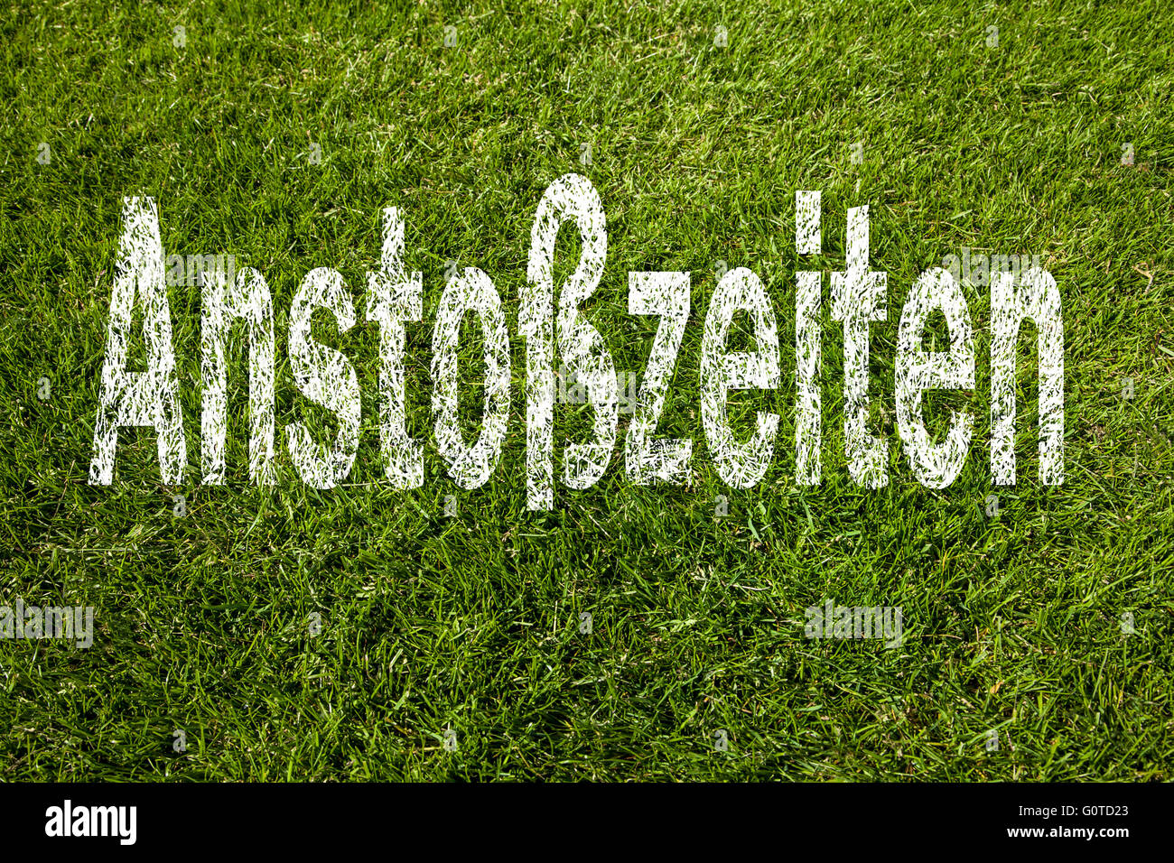 Kick off times (german) - Stock Image
