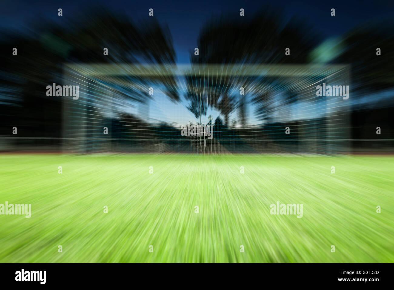 Football goal background - Stock Image