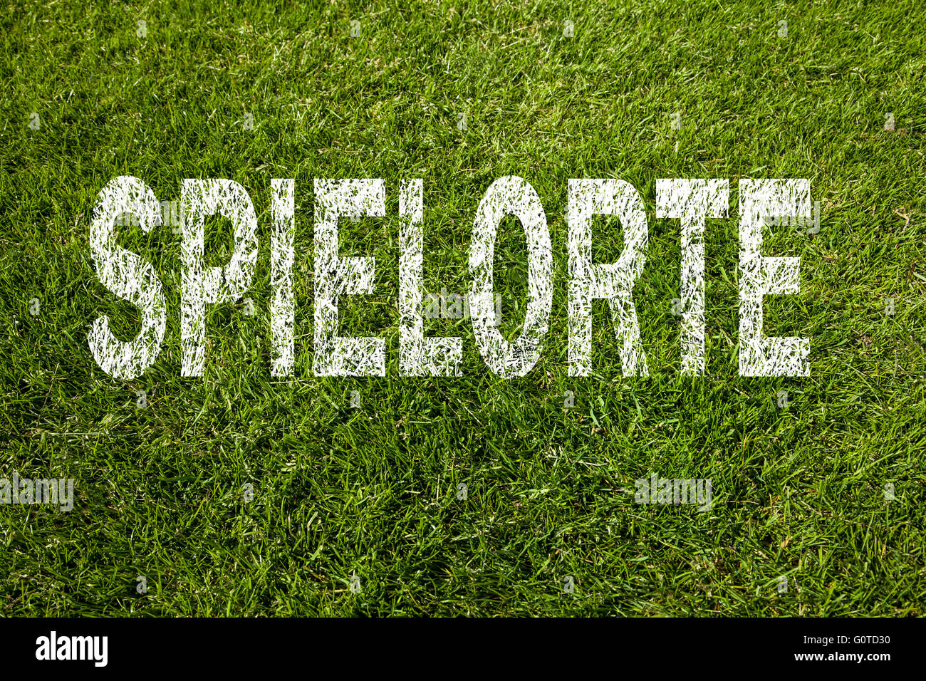 Game locations football (german) - Stock Image