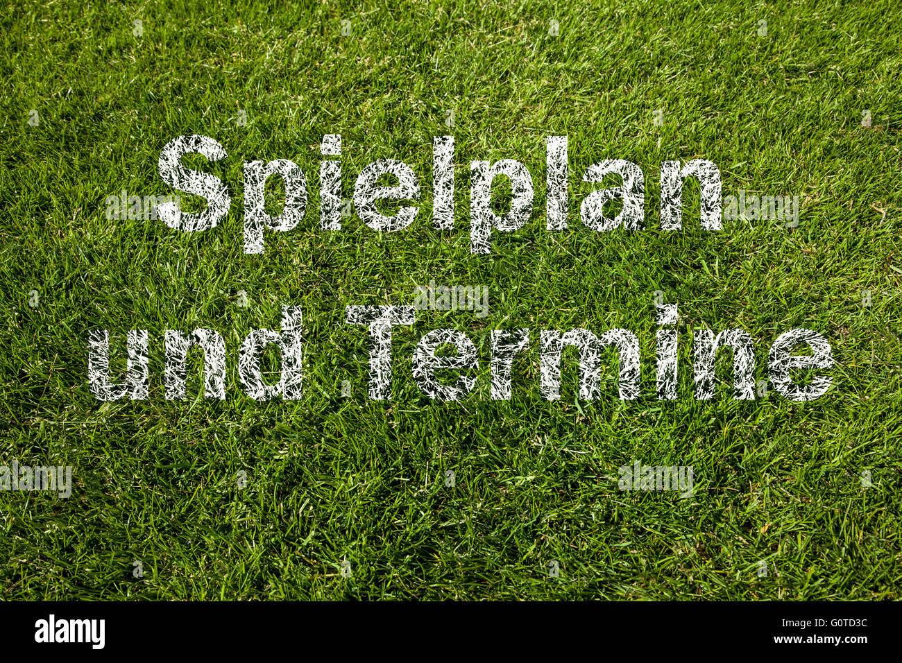Playing schedule and dates (german) - Stock Image