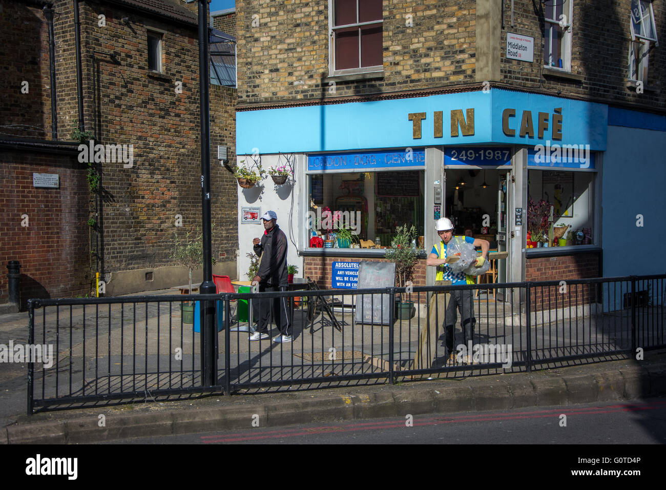 Tin Café, Haggerston, East London - Stock Image