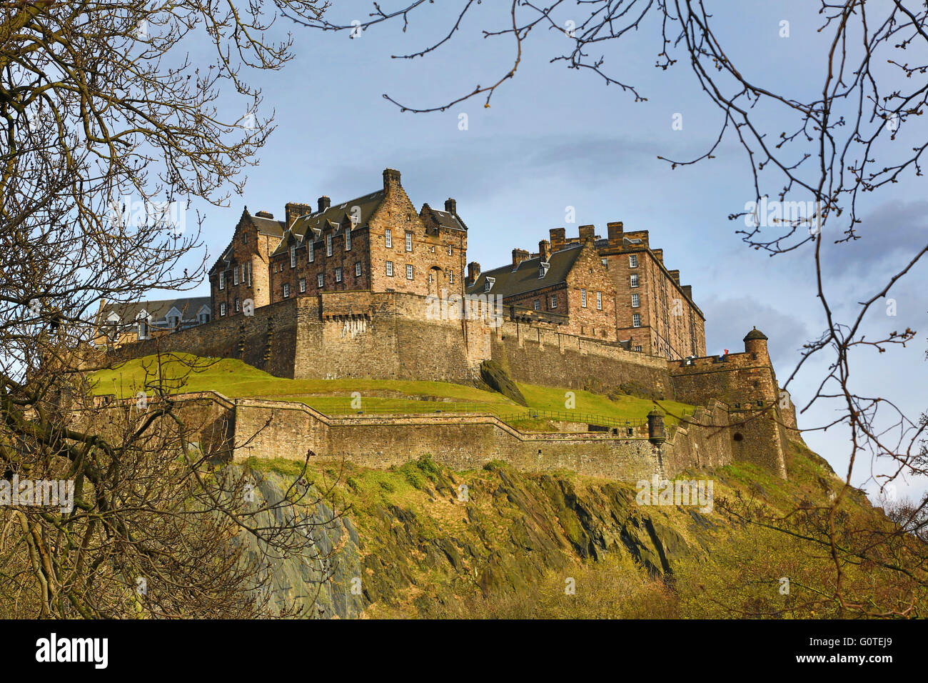 Edinburgh Castle in Edinburgh, Scotland, United Kingdom - Stock Image