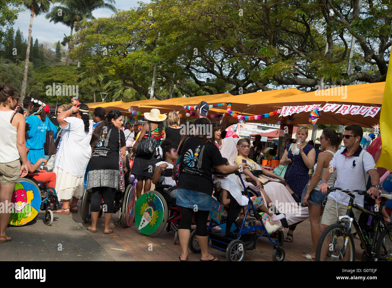 social awareness and participation fair to encourage and support inclusion and integration of people with disabilities. - Stock Image