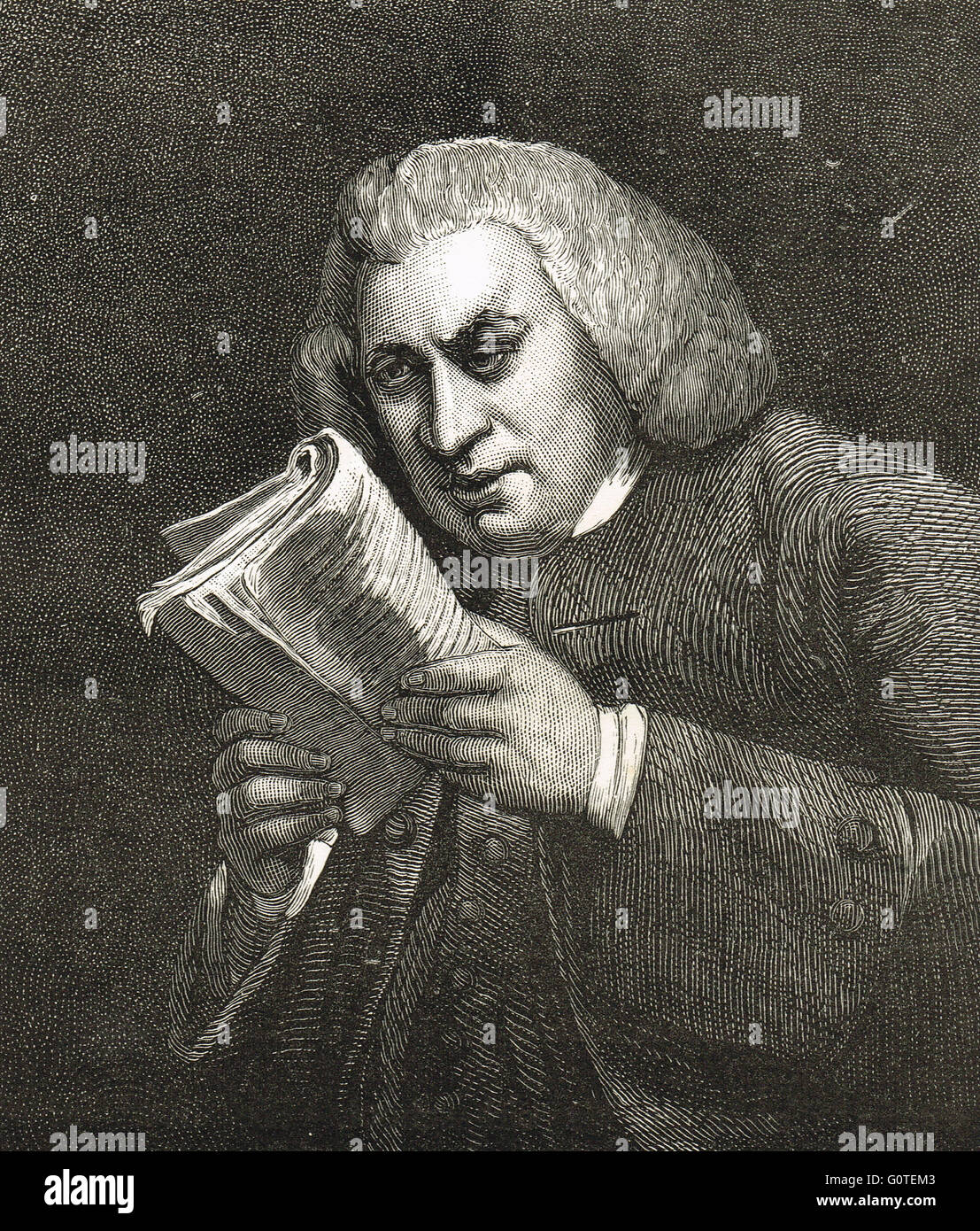 Dr Samuel Johnson lexicographer (1709-84)  Author of A Dictionary of the English Language published in 1755 Stock Photo