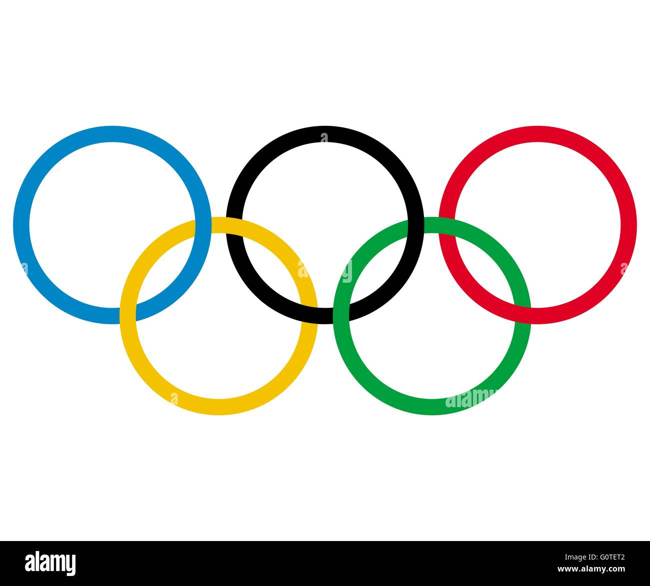 olympic rings vector stock vector art illustration vector image rh alamy com olympic rings vector free olympic rings vector download