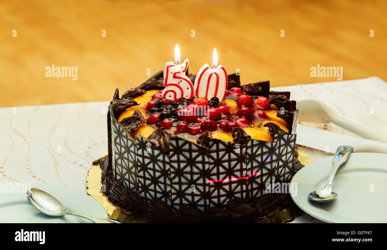 Fine 50Th Birthday Cake Stock Photos 50Th Birthday Cake Stock Images Funny Birthday Cards Online Alyptdamsfinfo