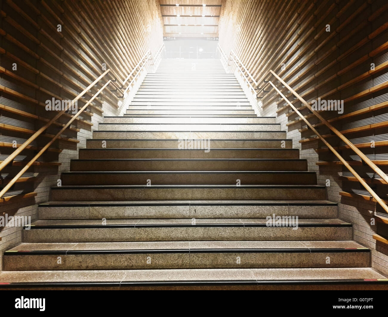 Low Angle View Of Steps And Staircase In Underground Station