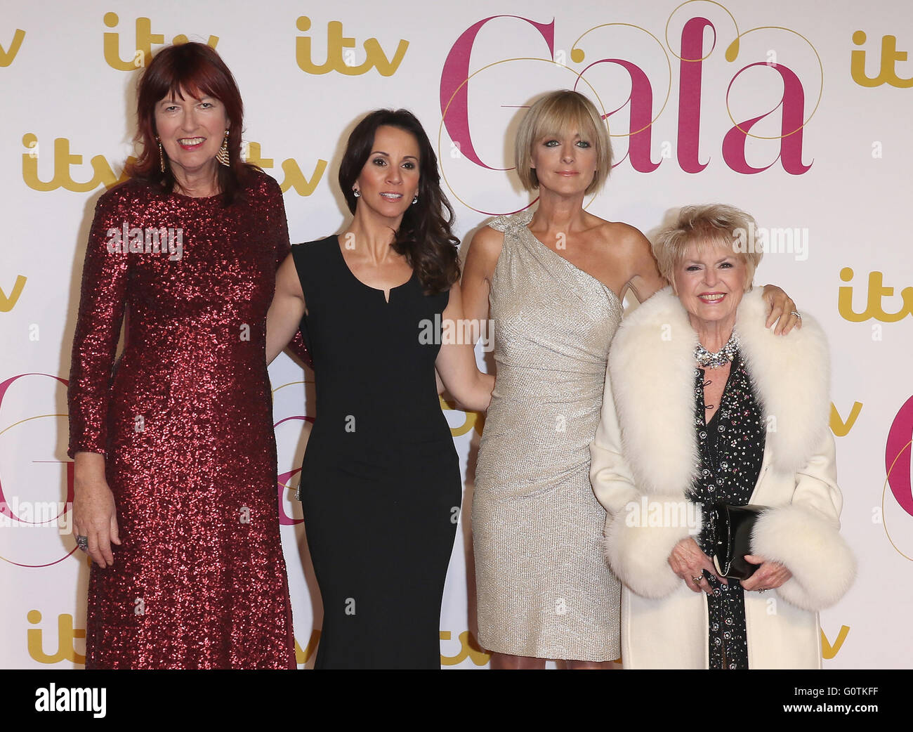 London, UK, 19th Nov 2015: Andrea McLean, Janet Street-Porter, Gloria Hunniford and Jane Moore - Loose Women attend - Stock Image