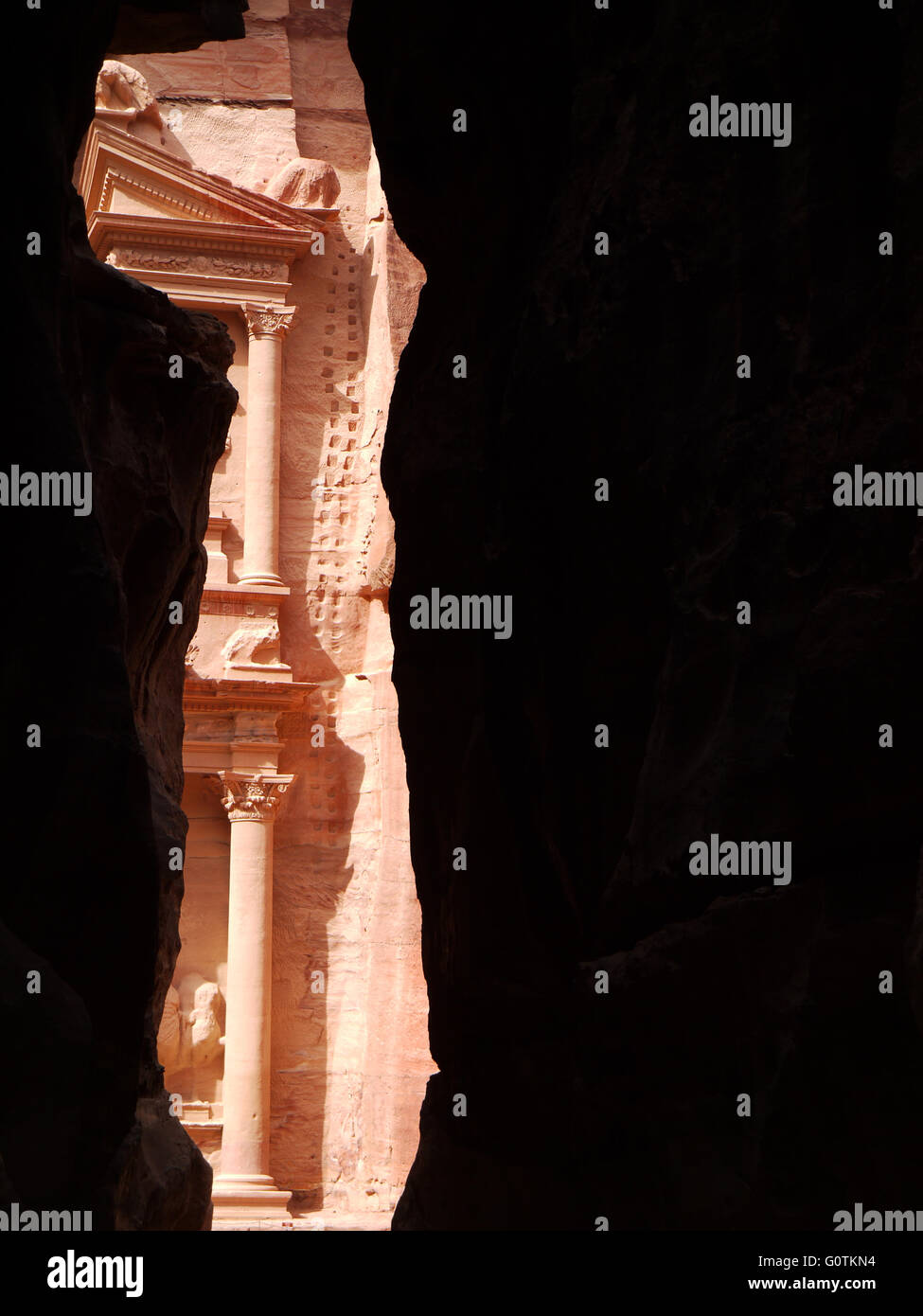 The Treasury (Al Kazneh), Petra, Jordan - Stock Image