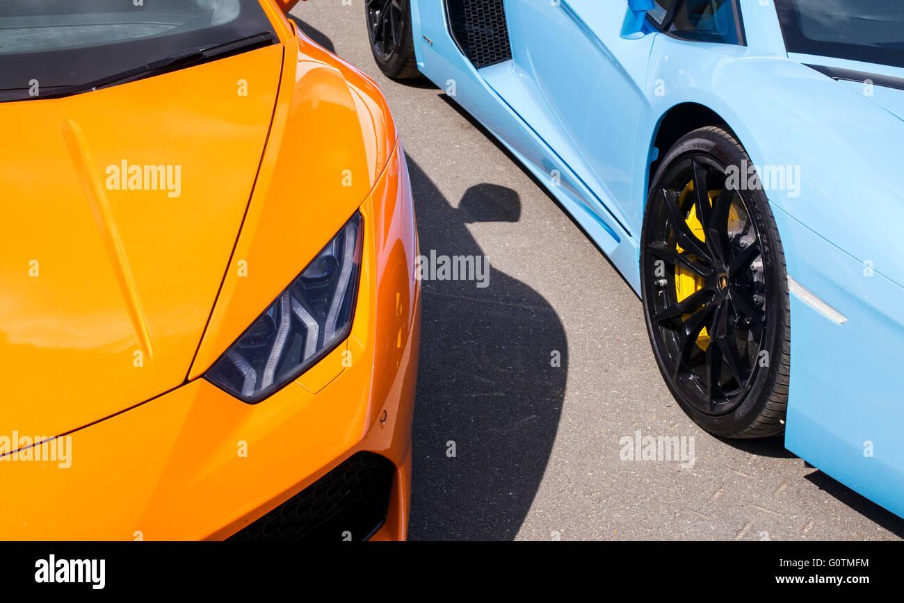 Lamborghini Cars Front End Abstract Italian Super Car Stock Photo