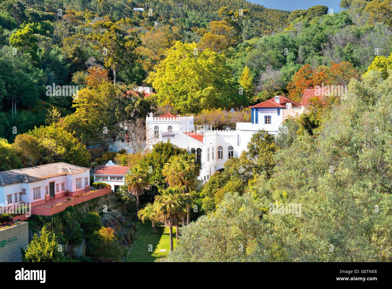 Portugal, Algarve: View to thermal village Caldas de Monchique Stock Photo