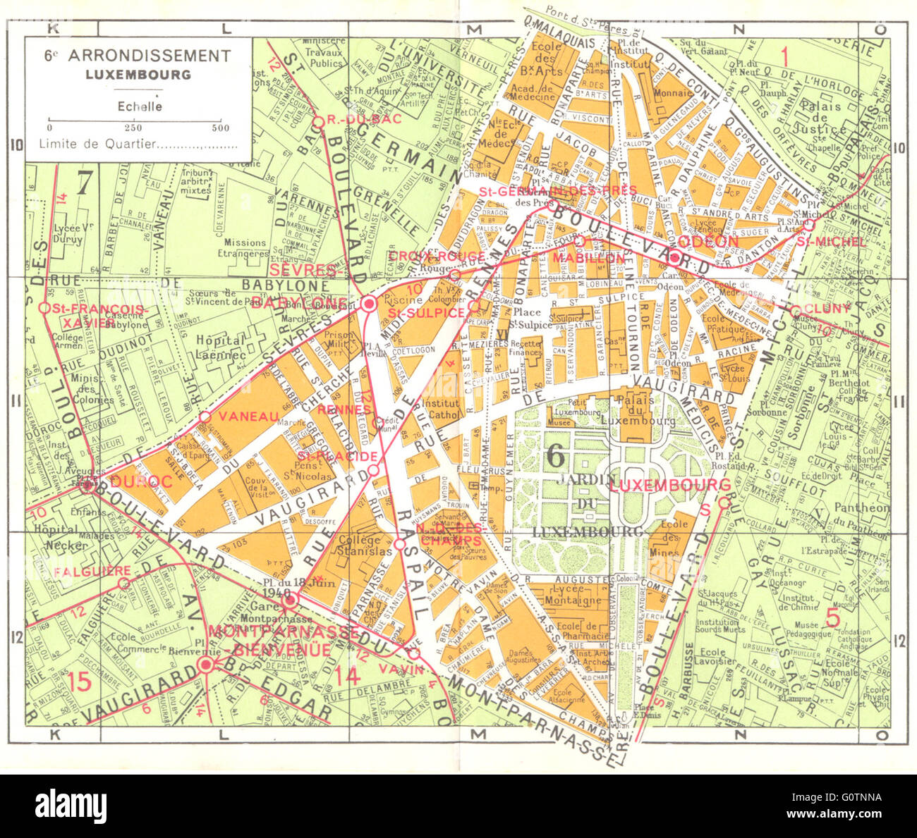 Map Of Paris France 6th Arrondissement.6e Stock Photos 6e Stock Images Alamy