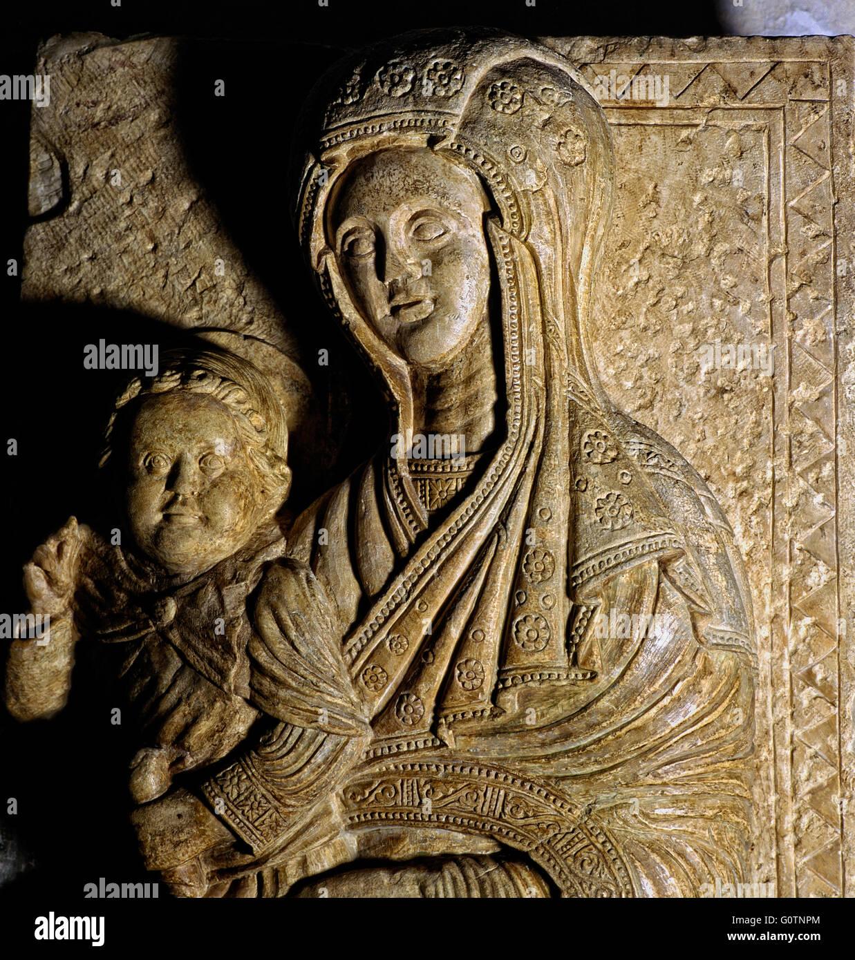 Italy Abruzzo Sulmona Cathedral of St. Panfilo - Madonna delle Fornaci  X - XI century - Stock Image