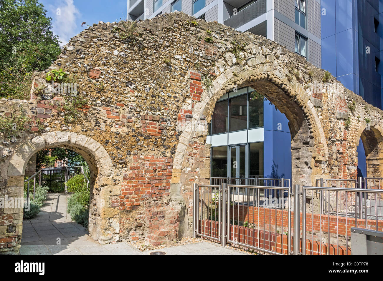 Remains Of Abbey Mill Reading Berkshire UK - Stock Image