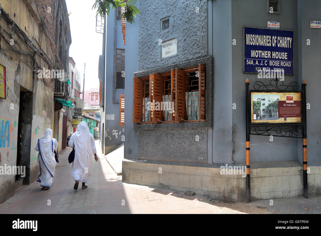 "Mother House, headquarters of the Congregation ""Missionaries of Charity"" (Mother Teresa Sisters) in Calcutta, India Stock Photo"