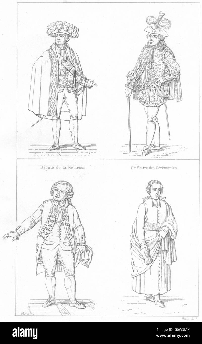 FRANCE: Depute Noblesse; Gd Maitre Ceremonies; Tiers Etat(1789); Clerge, 1875 - Stock Image