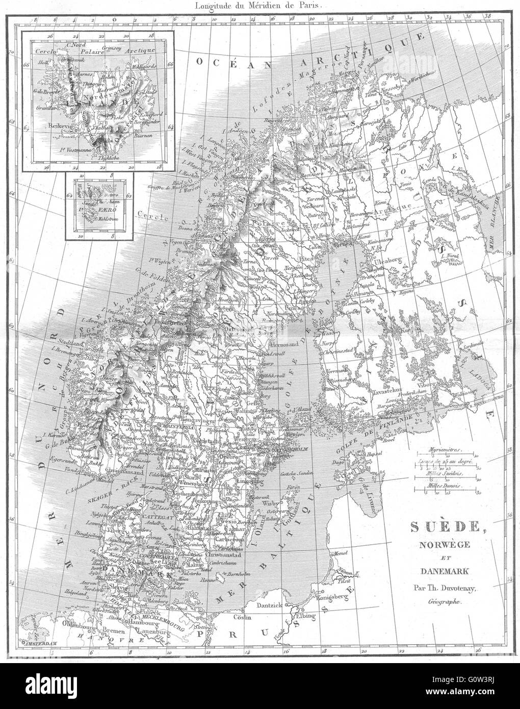 Map Norway Black and White Stock Photos & Images - Alamy