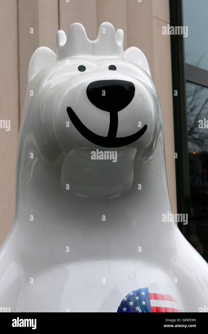 'Buddy Bear', Berlin. - Stock Image