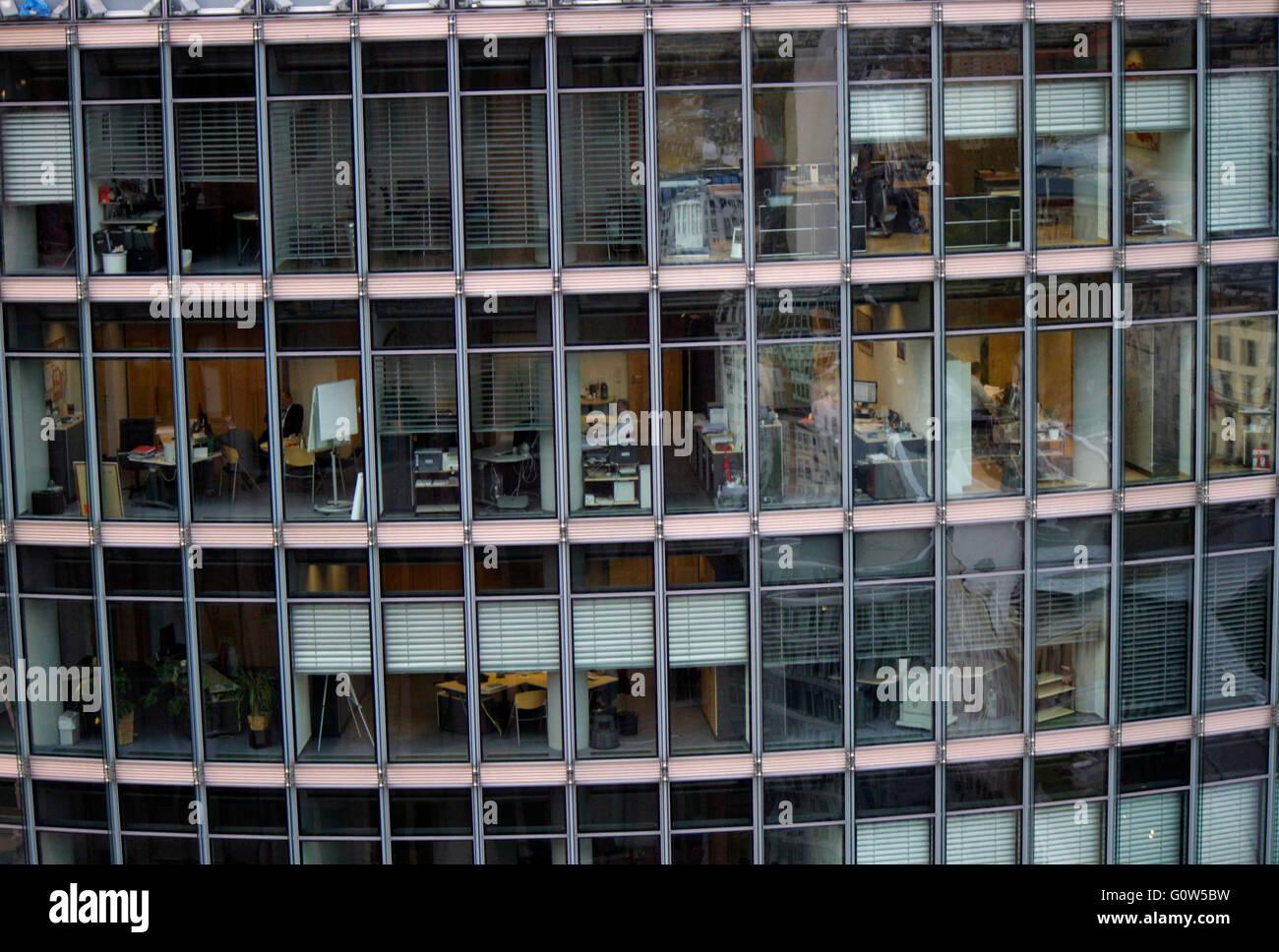 Buerarbeitsplaetze, Sony Center, Berlin-Tiergarten . - Stock Image