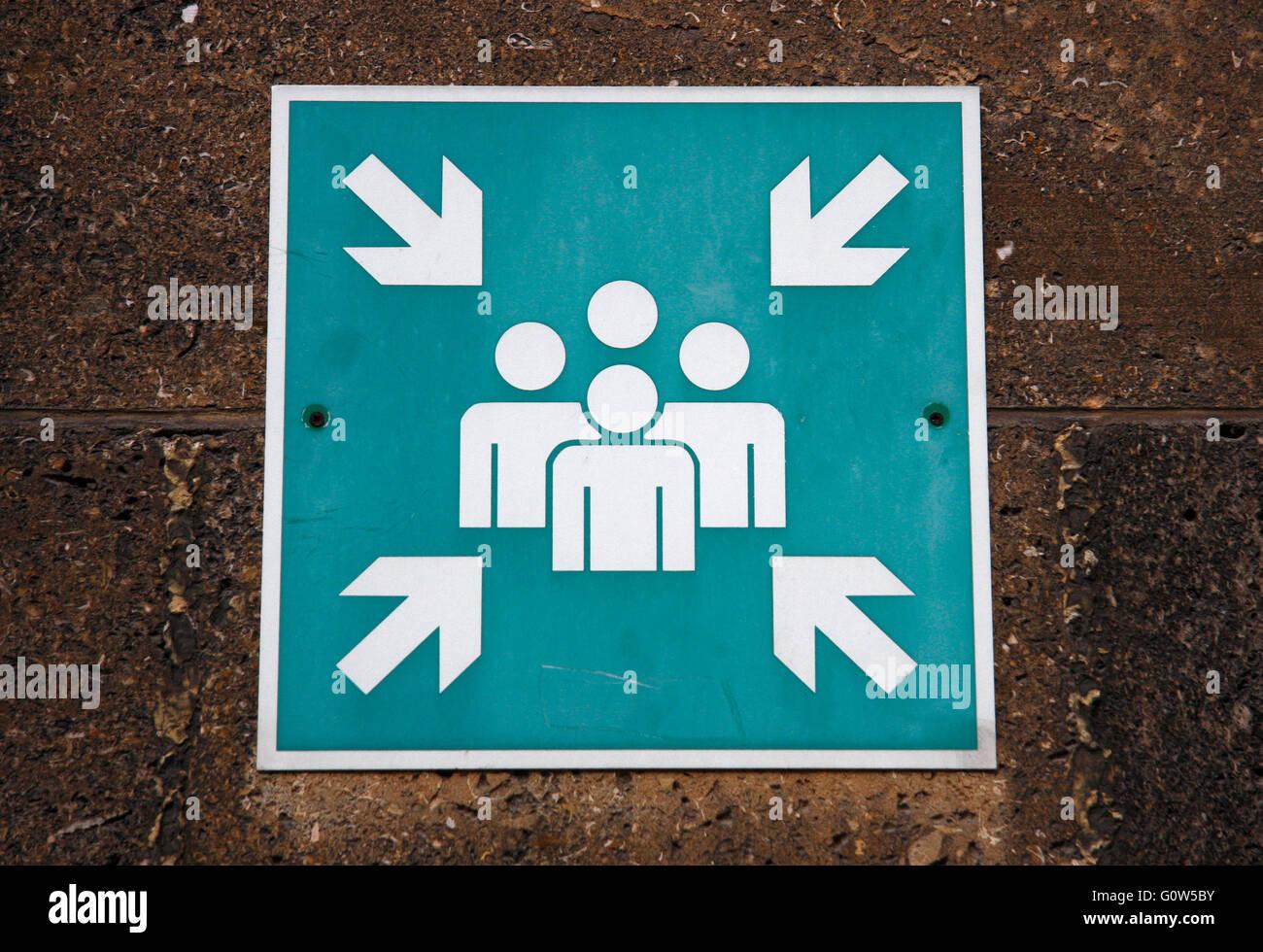verwirrendes Schild. - Stock Image