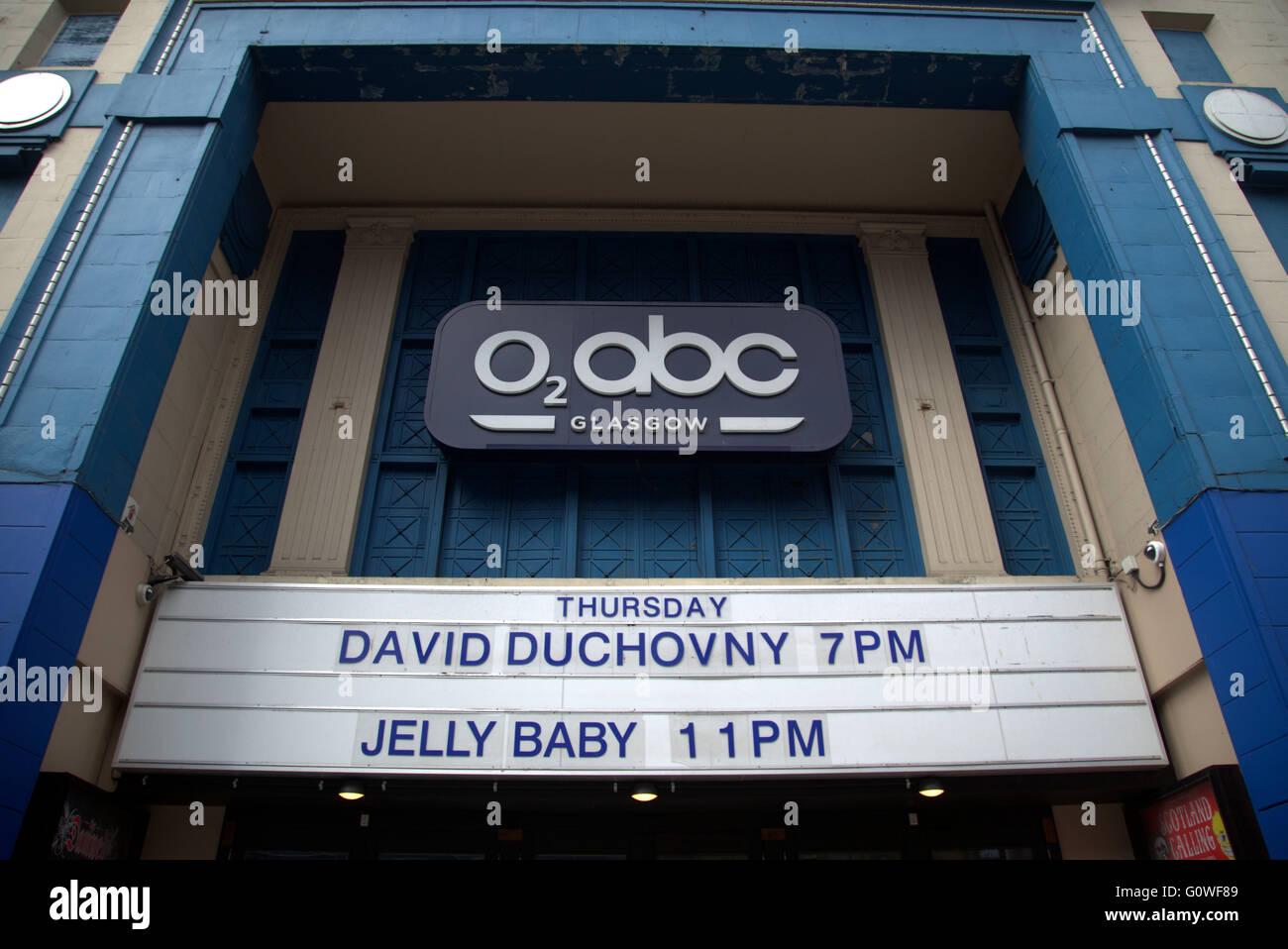 David Duchovny starts uk leg of his European tour in Glasgow O2 ABC venue on Thursday 12th may Glasgow, Scotand, - Stock Image