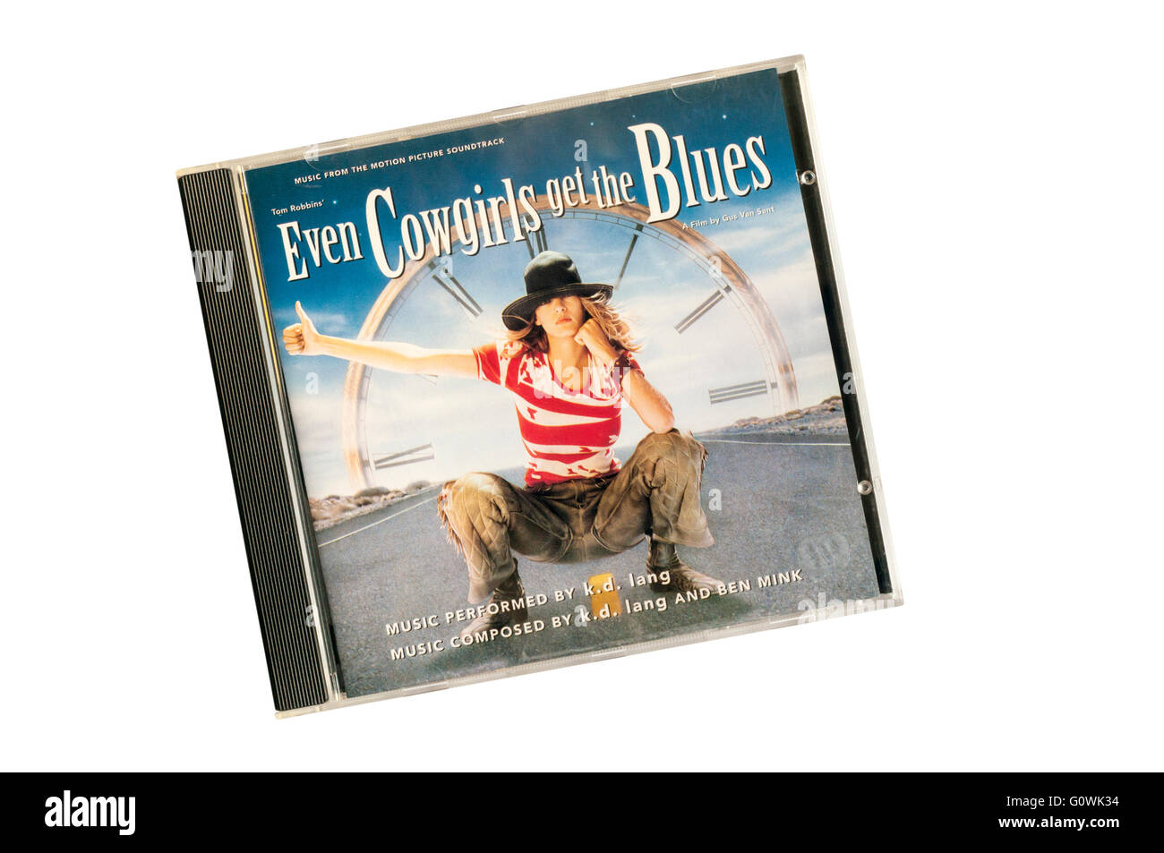 Even Cowgirls Get The Blues was k.d. lang's soundtrack to adaptation of Tom Robbins' novel of the same name. - Stock Image