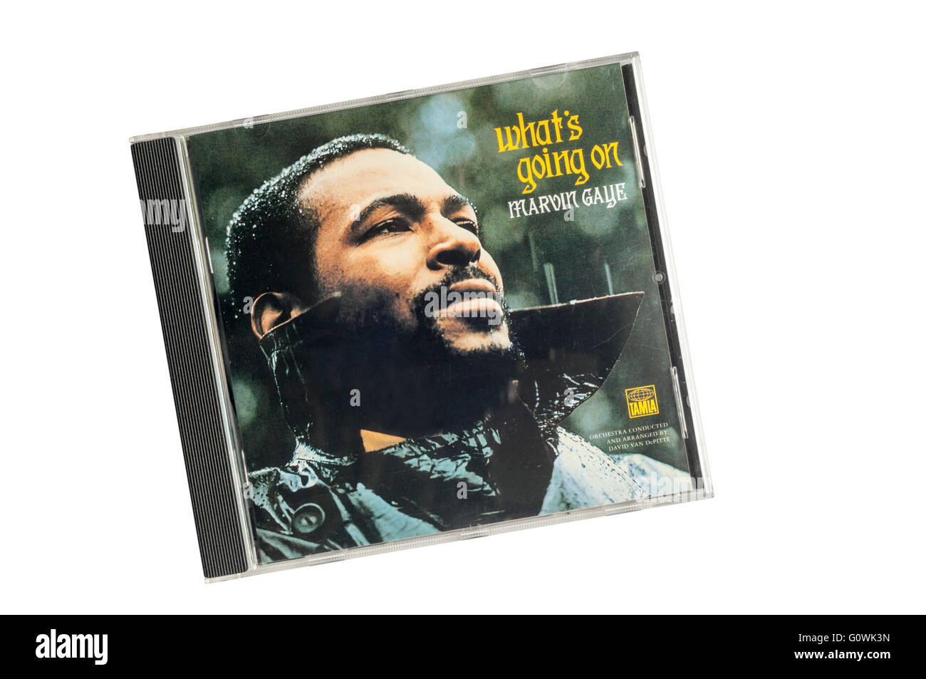 What's Going On was the eleventh studio album by soul musician Marvin Gaye. It was released in 1971. - Stock Image