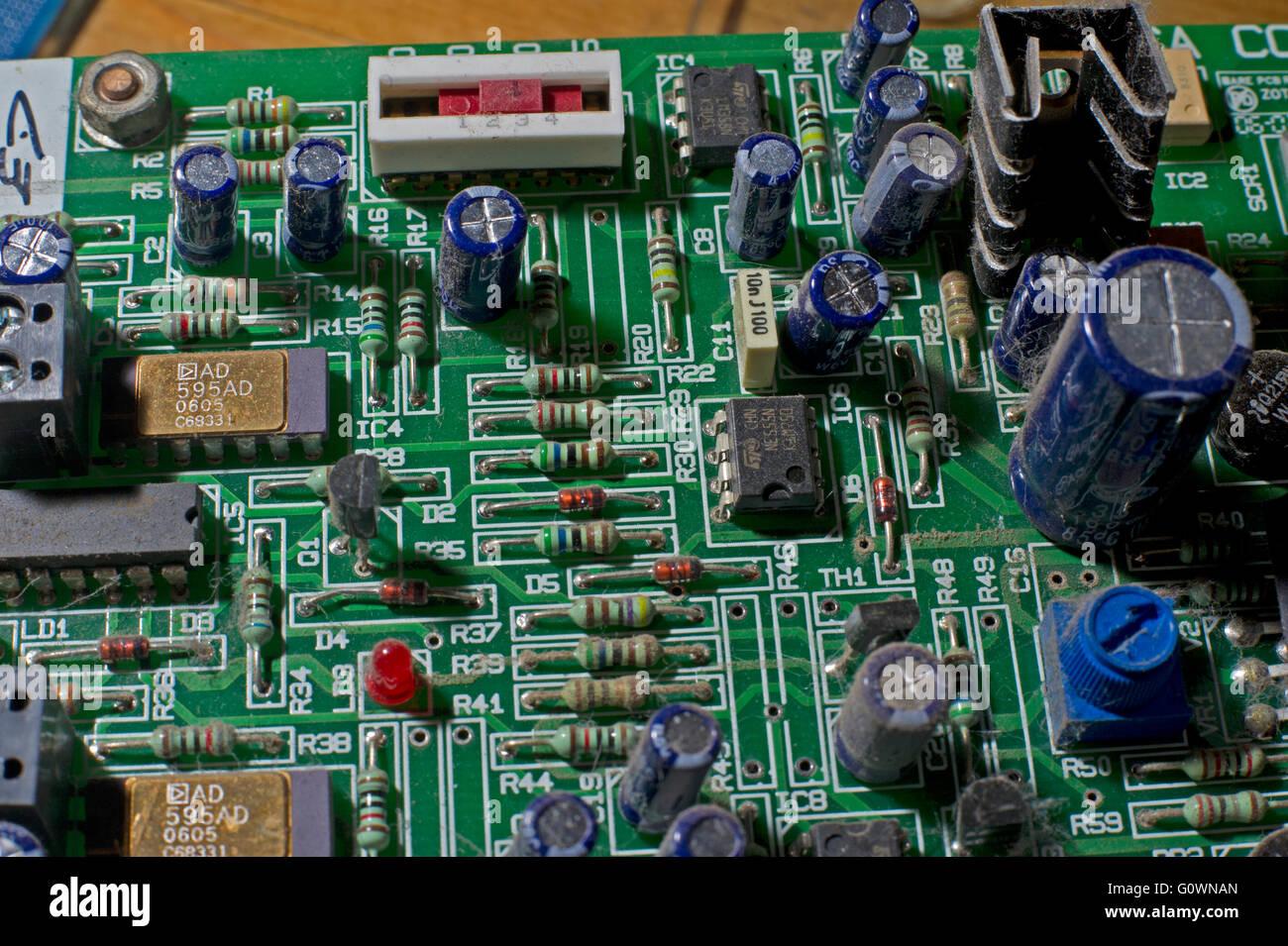 Electric Circuit Board Stock Photos Cooker A Close Up Of An Aga Image