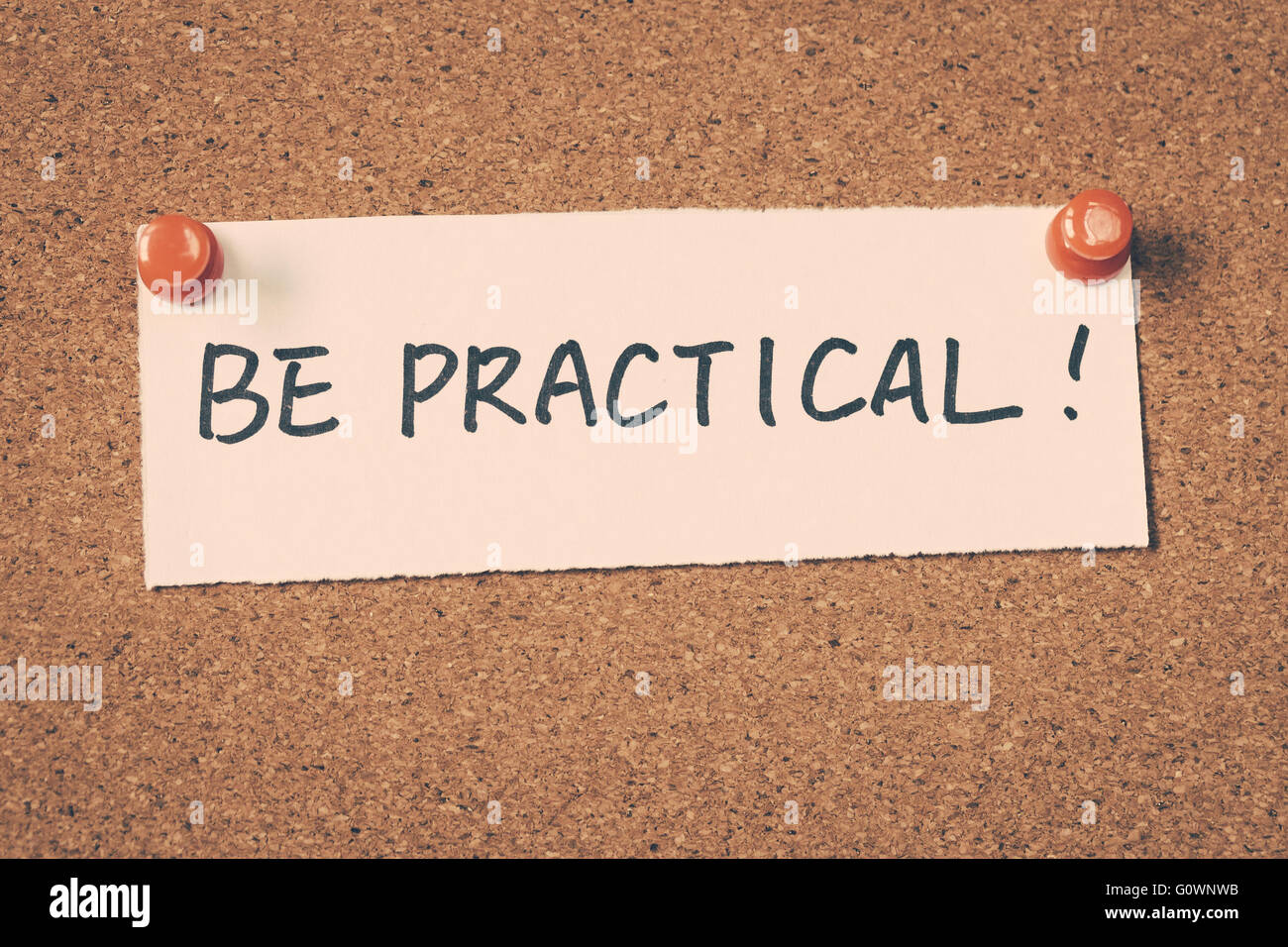 be practical - Stock Image
