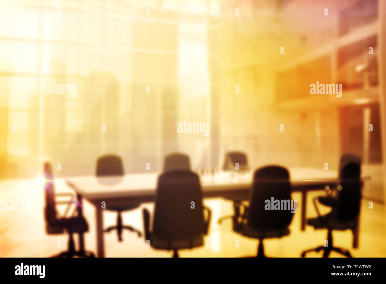 Image of a boardroom - Stock Image