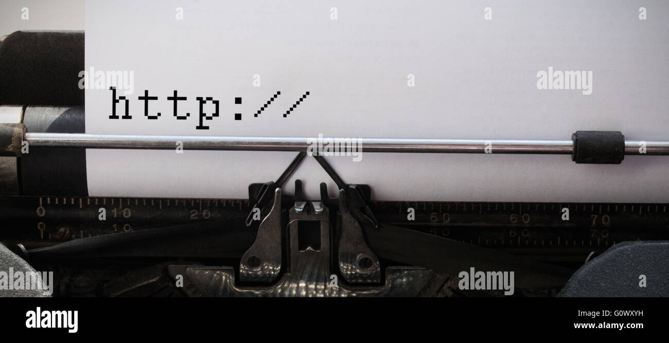 Composite image of http written against white background - Stock Image