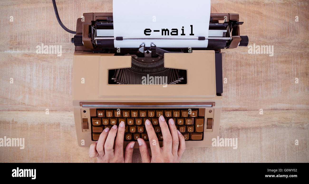 Composite image of e-mail message - Stock Image